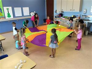 Preschool Class with Parachute