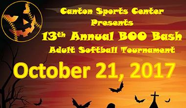 13th Annual Boo Bash Adult Softball Tournament  graphic