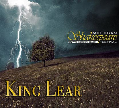 King Lear Graphic from Michigan Shakespeare Festival