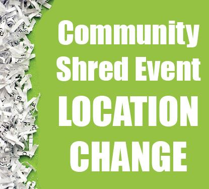 Shred Event location change